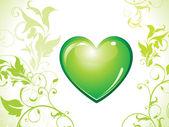 Abstract eco green heart bin icon — Stock Vector