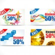 Abstract colorful discount card — Vector de stock