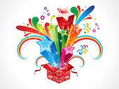 Abstract colorful magic box — Stock Vector
