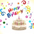 Abstract birthday card with cake - 