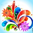 Abstract color ful floral with florwer - 
