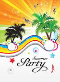 Abstract summer party theme — Stock Vector