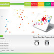 Abstract creative green based web template - Stockvektor