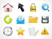 Abstract glossy web icons set — Stock Vector
