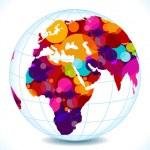 Abstract colorful circles globe — Stock Vector #21175813