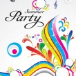 Stock Vector: Abstract summer party background concept