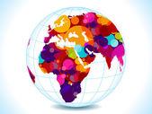 Abstract colorful circles globe — Stock Vector