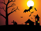 Cadılar bayramı duvar kağıdı — Stok Vektör