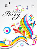 Abstract summer party background concept — Stock Vector