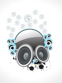 Abstract musical sound with circle bubbles — Stock Vector