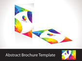 Abstract colorful rainbow brochure template — Stock Vector