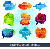 Abstract colorful speech bubbles — Stock Vector