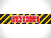 Abstract shiny uncensored warning tape — Stock Vector