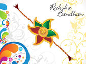 Abstract raksha bandhan floral background — Stock Vector