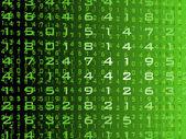 Abstract green digital background design — Stock Vector