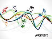 Abstract colorful musical line wave — Stock Vector