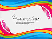 Abstract colorful rainbow color splash border — Stock Vector