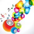 Abstract colorful sound background — Imagen vectorial