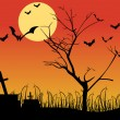 Cтоковый вектор: Abstract halloween wallpaper