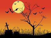 Streszczenie tapeta halloween — Wektor stockowy