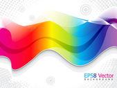 Modello di sfondo astratto colorato arcobaleno — Vettoriale Stock