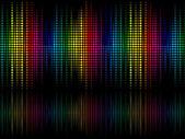 Arcobaleno colorato astratto sparkle puntini sfondo — Vettoriale Stock