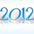 Abstract new year text background - Imagen vectorial