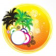 Royalty-Free Stock Imagen vectorial: Abstract artistic summer holiday theme