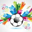 Stock Vector: Abstract colorful football explode background