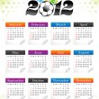 Abstract sports calender template — Stock Vector