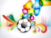 Abstract colorful football explode background — Stock Vector