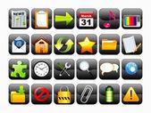 Set di icone web lucido astratta — Vettoriale Stock