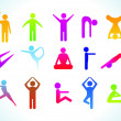 Royalty-Free Stock Vectorafbeeldingen: Abstract yoga people icon template