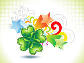 Abstract st patrick clover explode — Stock Vector