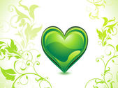Abstract green eco heart — Stock Vector