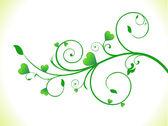 Abstract green eco heart plant — Stock Vector