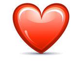 Abstract red shiny heart icon — Stock Vector