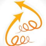 Abstract orange arrow style — Stock Vector