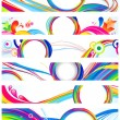 Abstract multiple colorful web banners — Stock Vector