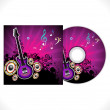 Stock Vector: Abstract music cd template