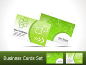 Abstract green business card template — Stock Vector