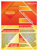 Abstract orange corporate brochure template — Stock Vector