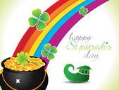 Abstract st patrick rainbow background — Stock Vector