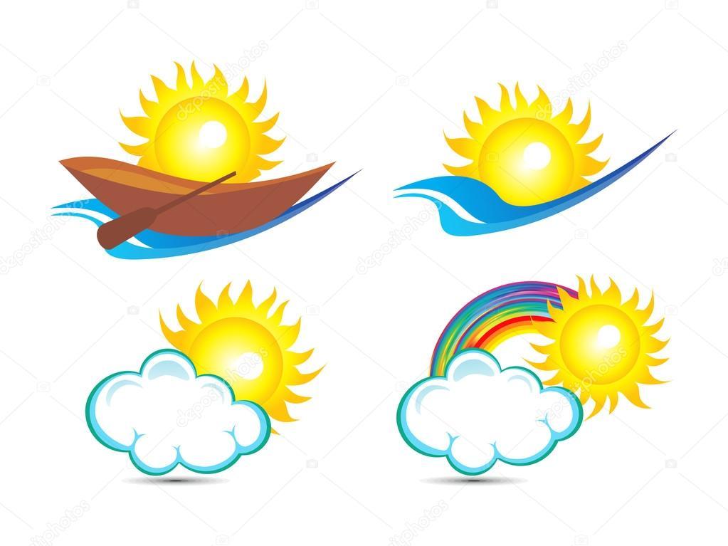 r u00e9sum u00e9 plusieurs mod u00e8le de base logo soleil  u2014 image vectorielle rioillustrator  u00a9  22563013