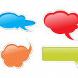 Abstract chat balloon icons - Stock Vector