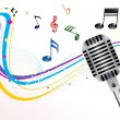 Abstract musical mic background - Stock Vector