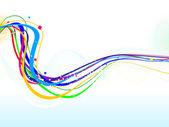 Fundo de onda abstrata linha colorida — Vetor de Stock