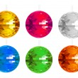 Abstract colorful disco balls set - Stock Vector