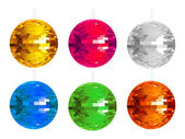Abstract colorful disco balls set — Stock Vector