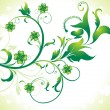 Abstract st patrick floral background - Stockvektor